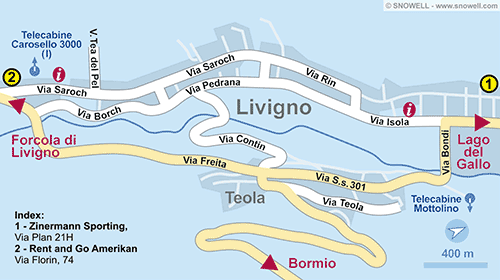 Resort Map Livigno