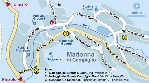 Resort Map Madonna di Campiglio