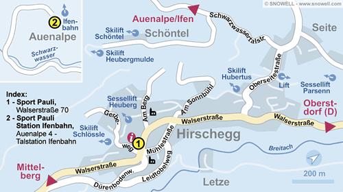 Resort Map Kleinwalsertal - Hirschegg