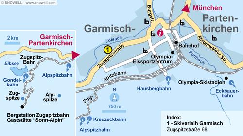 Resort Map Garmisch-Partenkirchen